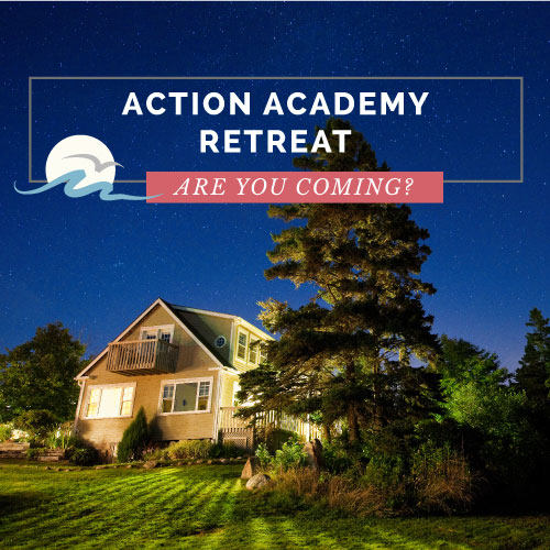 Action Academy Retreat with Krista Smith and Jac McNeil at Oceanstone in Nova Scotia