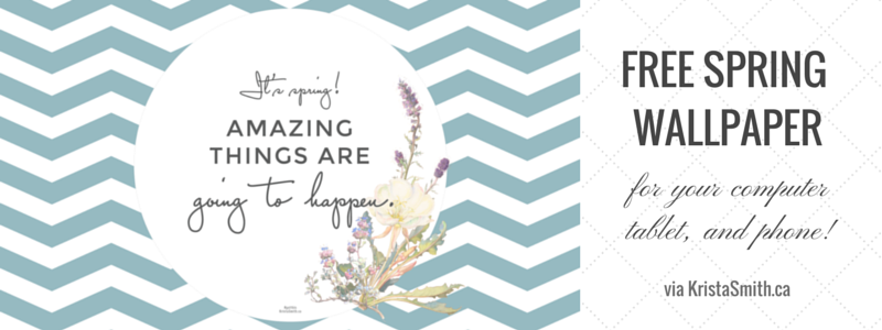 FREE SPRING WALLPAPER and SCREENSAVERS via KristaSmith.ca