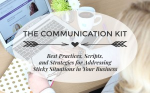 Clear step by step techniques for addressing sticky situations in your business. Including easy to follow frameworks, effective scripts, and best practices for navigating those bumpy business relationships.. TheCommunicationKit.com