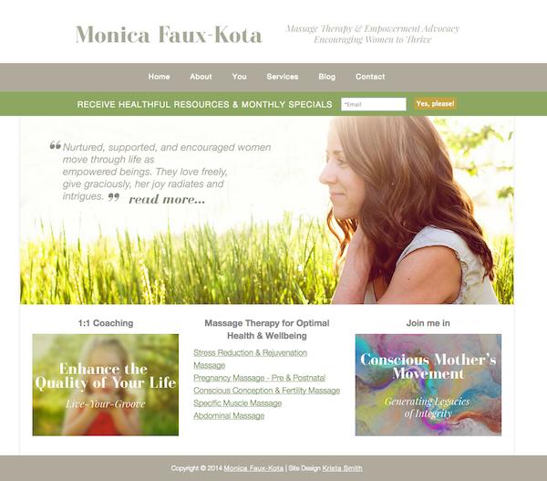 Monica Faux Kota, by Krista Smith