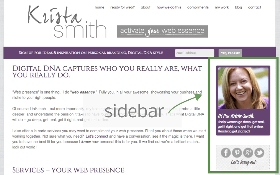 Krista Smith, Personal Branding Expert for Women on Sidebars