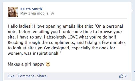 Facebook, Krista Smith