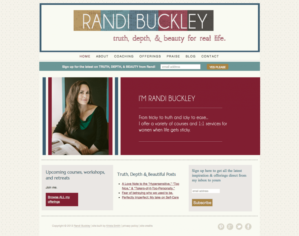 RandiBuckley.com by Krista Smtih