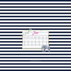 June Wallpaper via Krista Smith at ActivateHerAwesome.com - elephant stripe version iPad