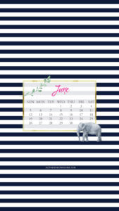 June Wallpaper via Krista Smith at ActivateHerAwesome.com - elephant stripe version iPhone