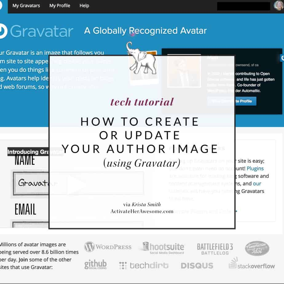 How to create or edit the image that is used as your author avatar via Krista Smith at ActivateHerAwesome.com