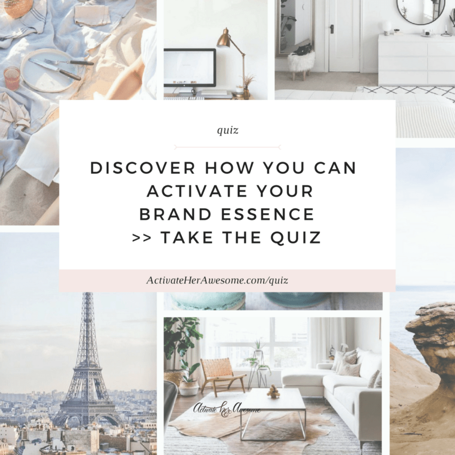 Take the QUIZ - Activate Your Brand Essence