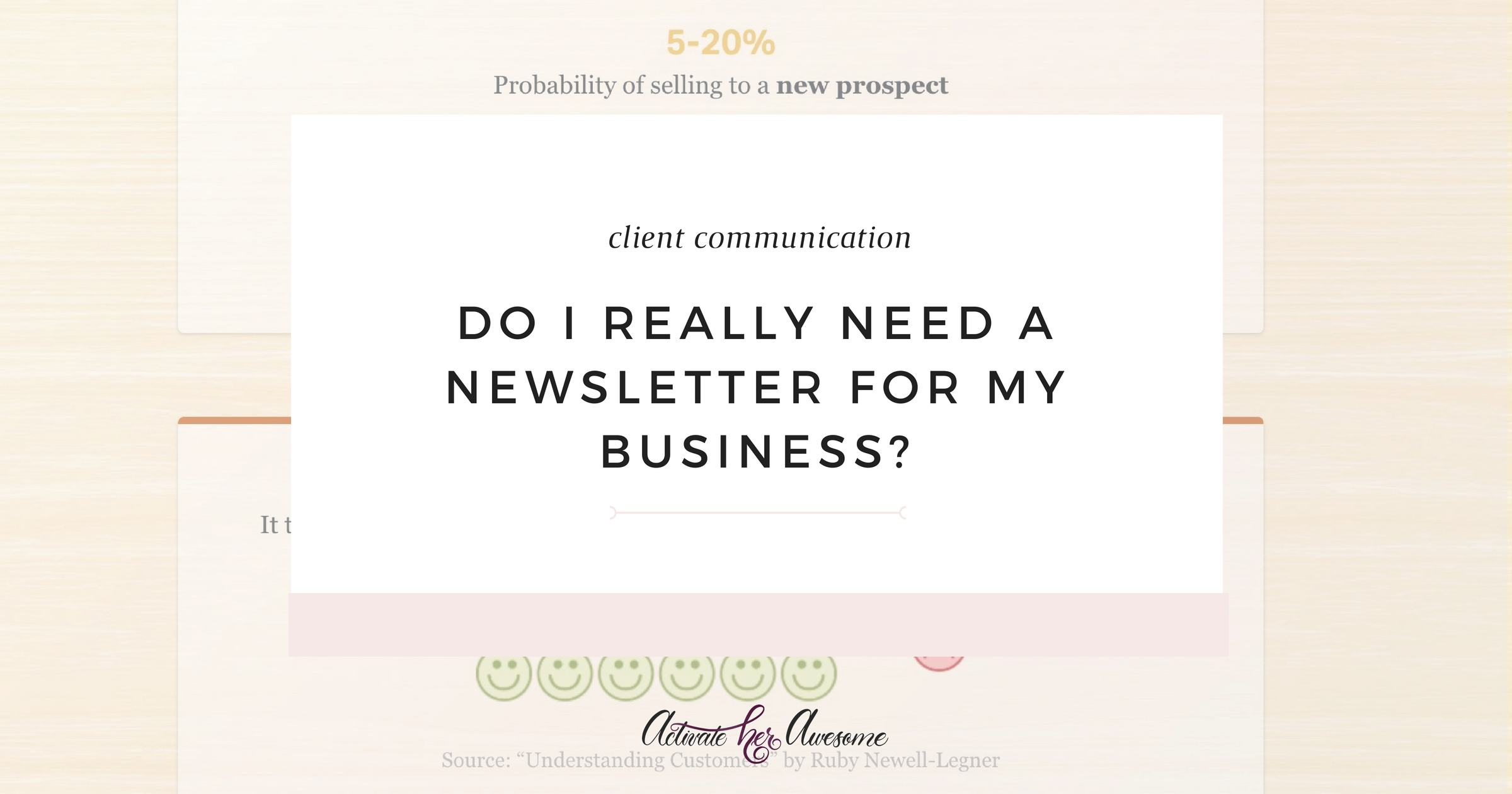 Do I really need a newsletter for my business_ _ via Krista Smith at ActivateHerAwesome.com