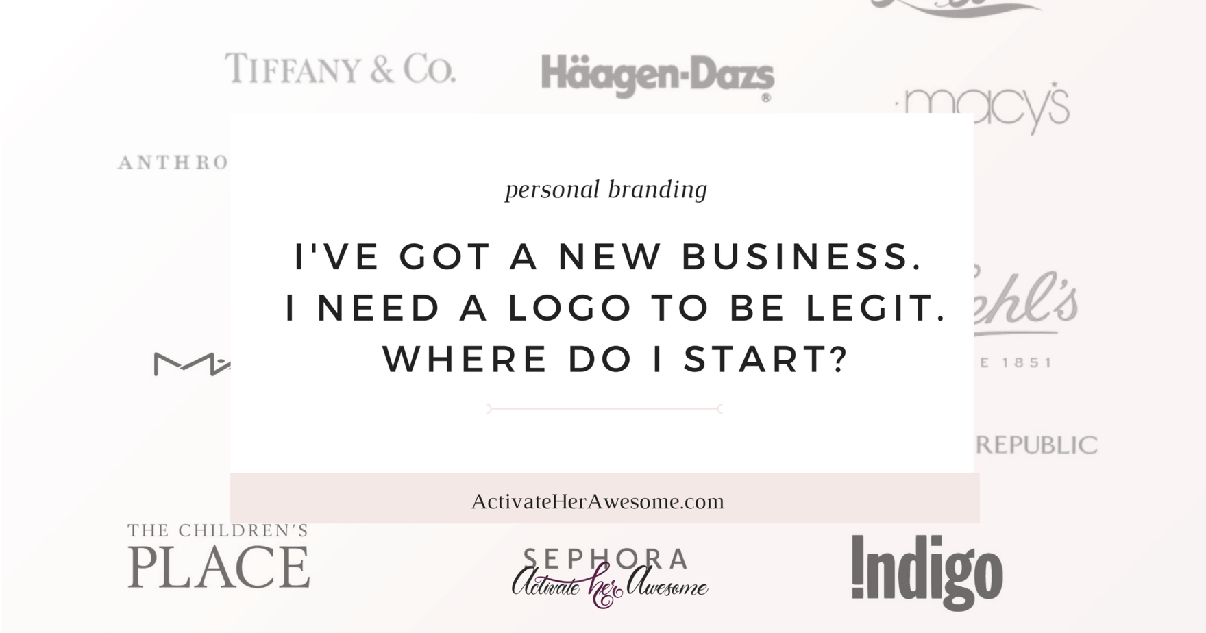 Where do I start when developing a logo for my new business__ _ via Krista Smith at ActivateHerAwesome.com