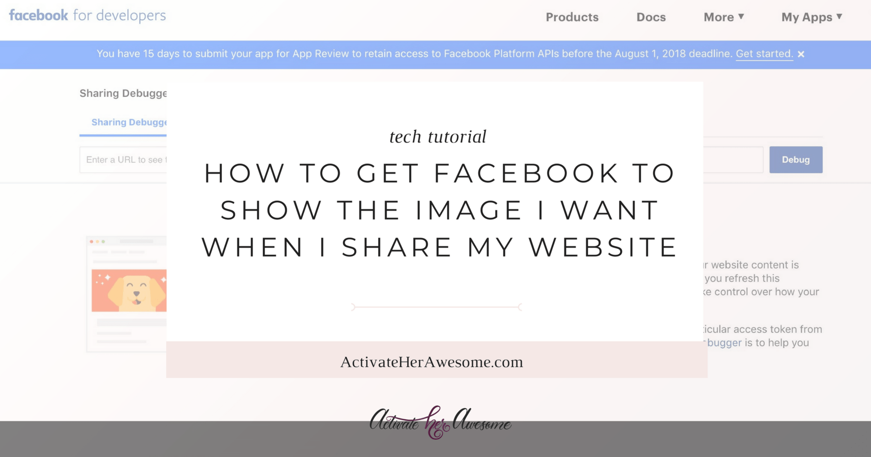 How to Get Facebook To Show a Specific Image | via