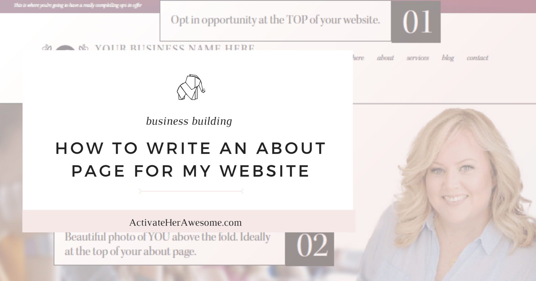 HOW TO WRITE AN ABOUT PAGE FOR MY WEBSITE_ via Krista Smith at ActivateHerAwesome.com