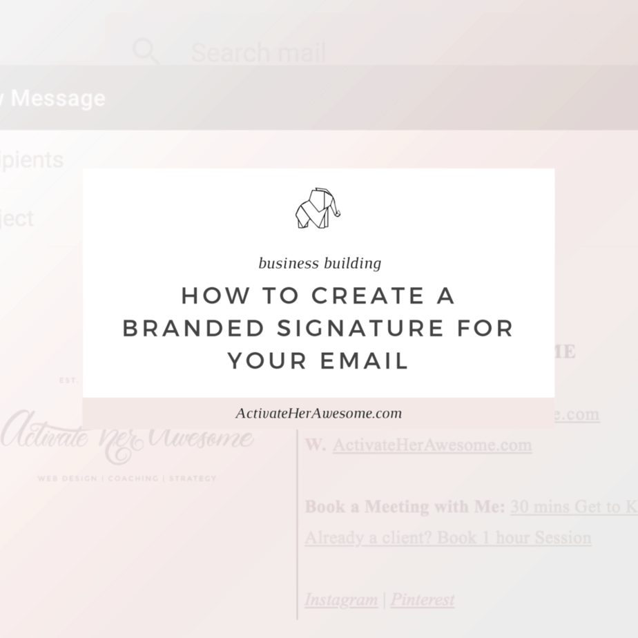 How to Create a Branded Signature for Your Email _ via Krista Smith at ActivateHerAwesome.com