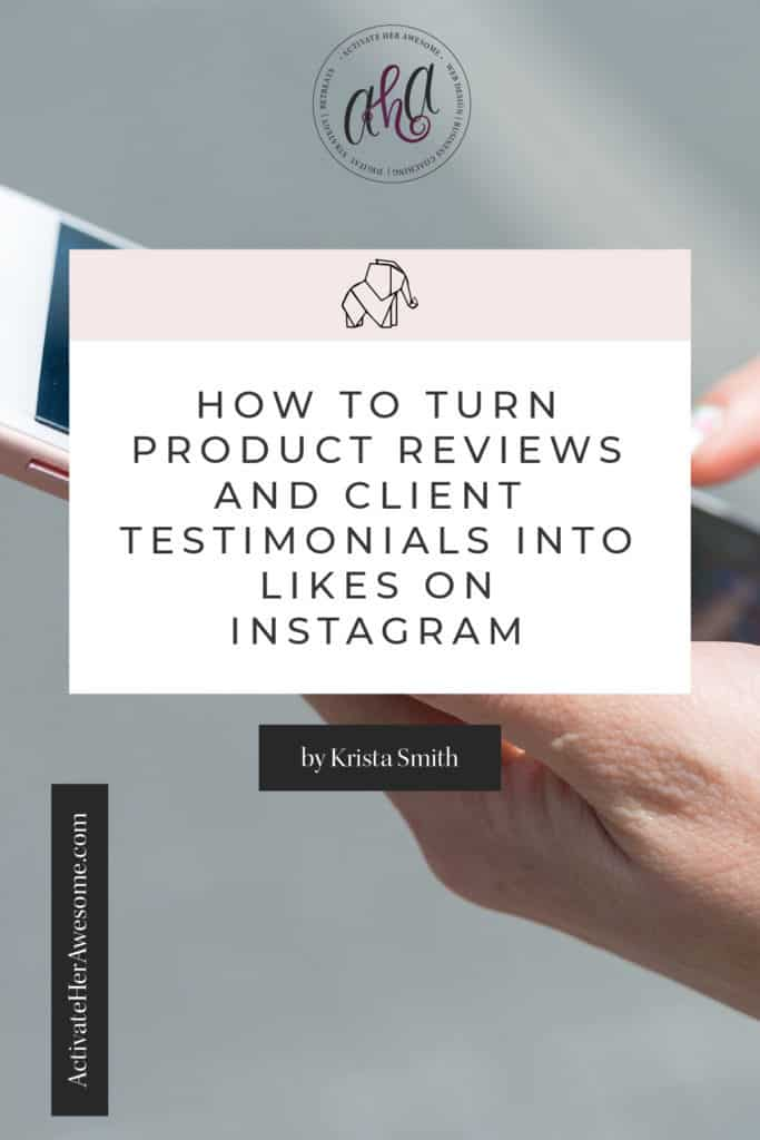 Learn How You Can Use Reviews or Testimonials to Engage Your Audience on Instagram with this Canva Tutorial via Krista Smith at ActivateHerAwesome.com
