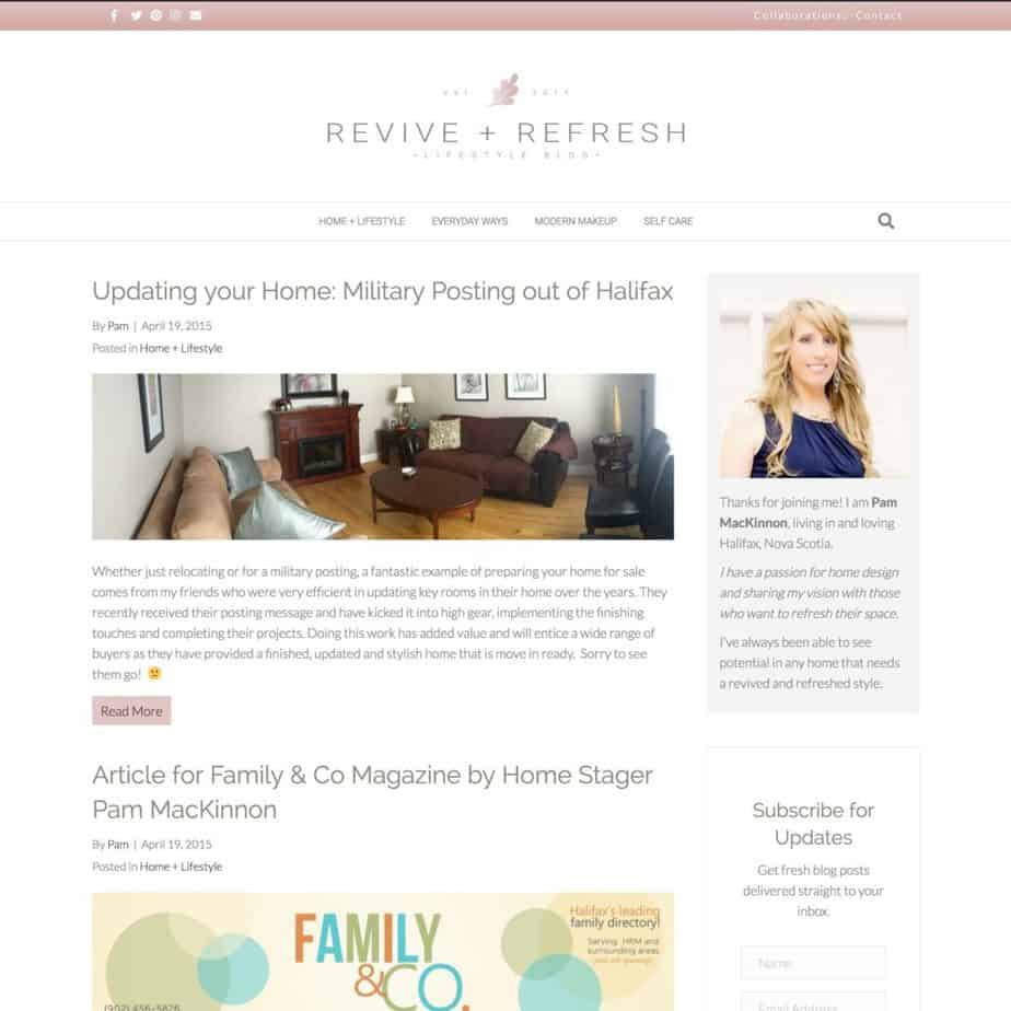 Pam Mackinnon - Revive & Refresh, a Blog Makeover by Krista Smith, ActivateHerAwesome.com
