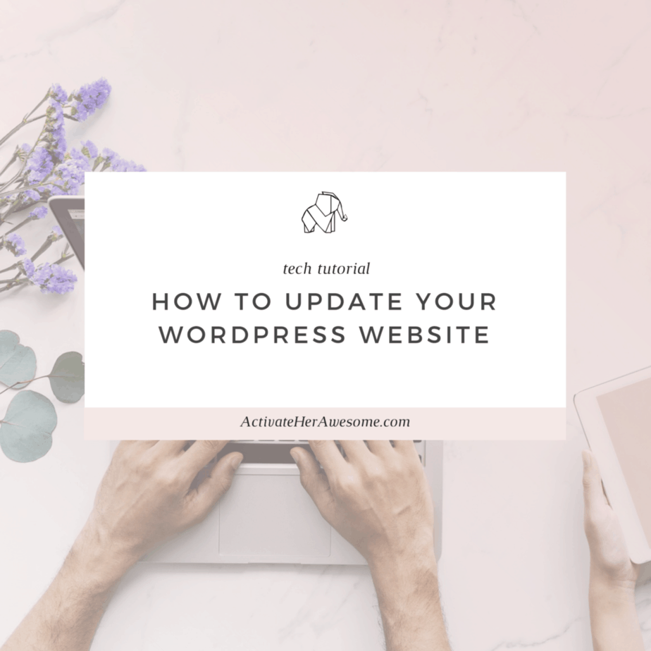 How to Update Your Wordpress Website via Krista Smith at ActivateHerAwesome.com