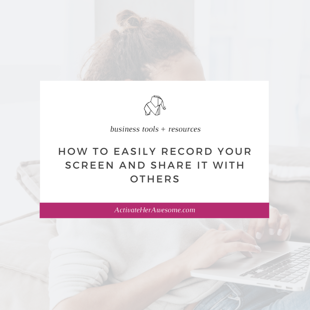 How to Easily Record Your Screen and Share It With Others by Krista Smith