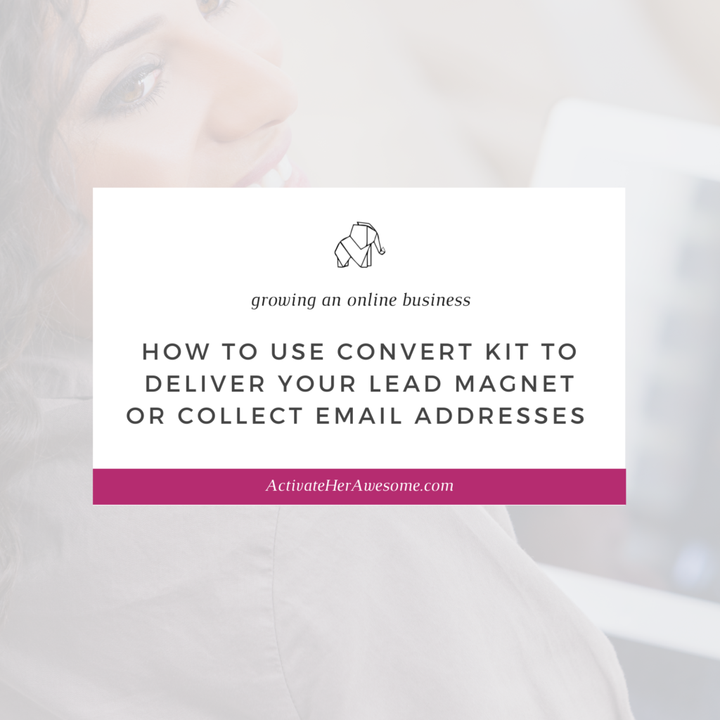 How to Use Convert Kit to Deliver Your Lead Magnet or Collect Email Addresses by Krista Smith